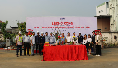 CBC HELD THE GROUND BREAKING CEREMONY FOR BINH CHANH HONDA CAR SHOWROOM ON THE FIRST DAY OF FEBRUARY, 2021