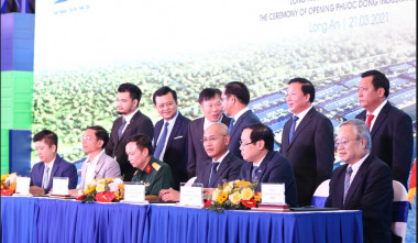 THE INAUGURAL CEREMONY OF PHUOC DONG INDUSTRIAL PARK AND PORT