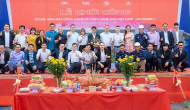 CBC HANOI HOLDS THE GROUND-BREAKING CEREMONY OF NVC LIGHTING VIETNAM IN BAC NINH