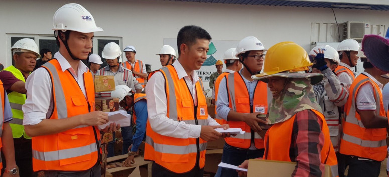 GRATITUDE CEREMONY FOR CBC WORKERS AND THEIR FAMILIES AT MARVEL PROJECT IN CAMBODIA