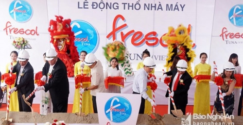 TUNA FACTORY WITH PRODUCTION CAPACITY REACHS TO 150 TONS PER DAY STARTED TO BUILT IN NGHE AN