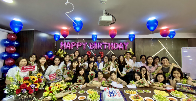 HAPPY BIRTHDAY MARCH AND HAPPY WOMEN'S DAY PARTY AT CBC OFFICE